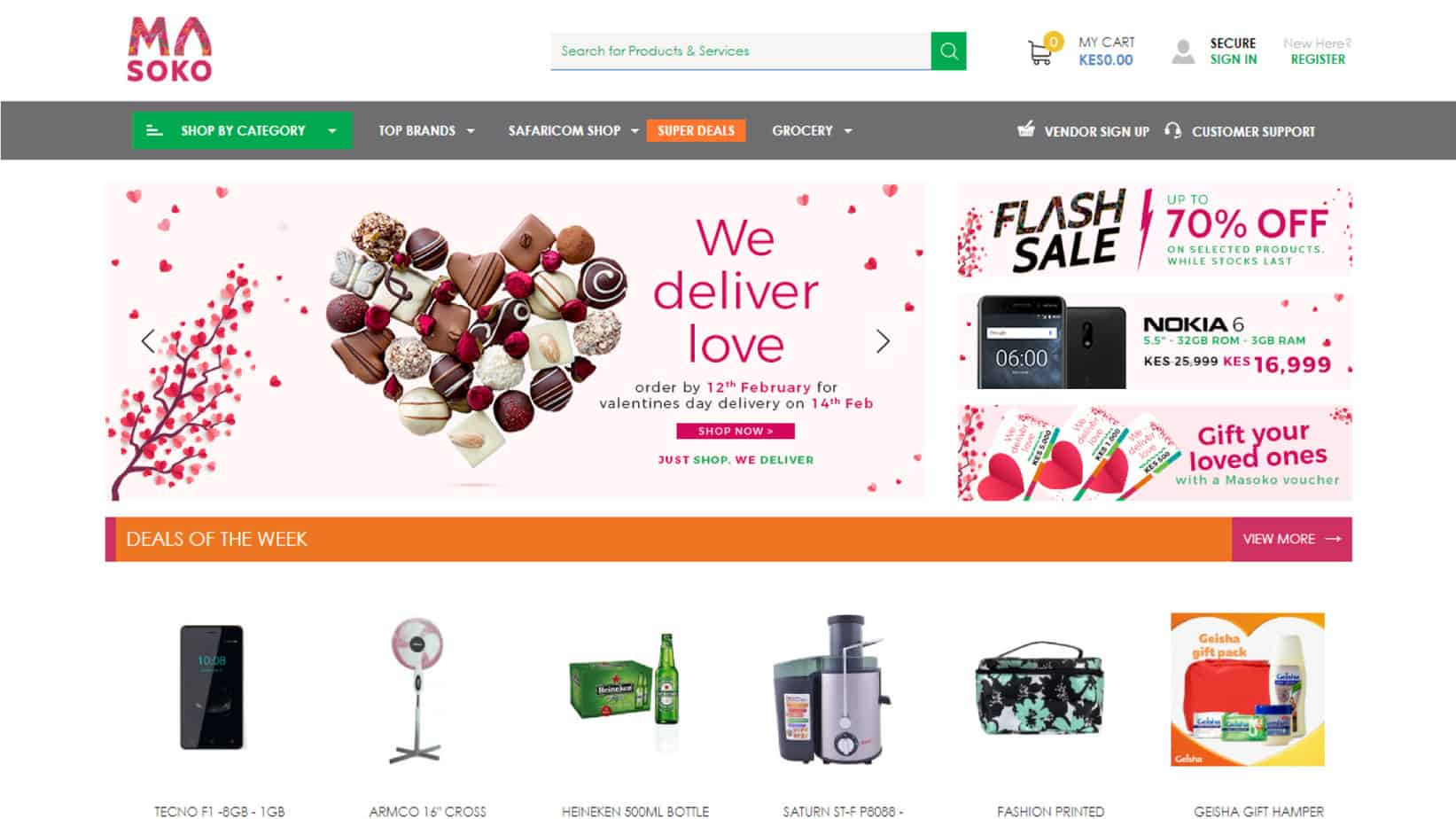082046c212 If you are looking for inspiration on how to design an e-commerce website  Masoko is a good place to start. With a bit of Masoko touch to the website  design